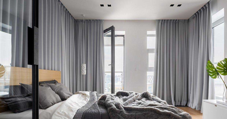 rideaux opaques gris